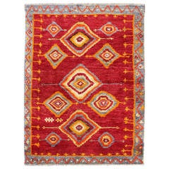 Tribal Turkish Konya Rug