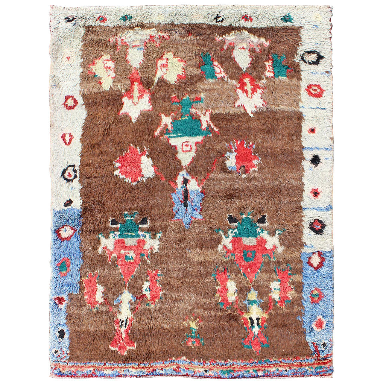 Colorful Antique Tulu Rug 1