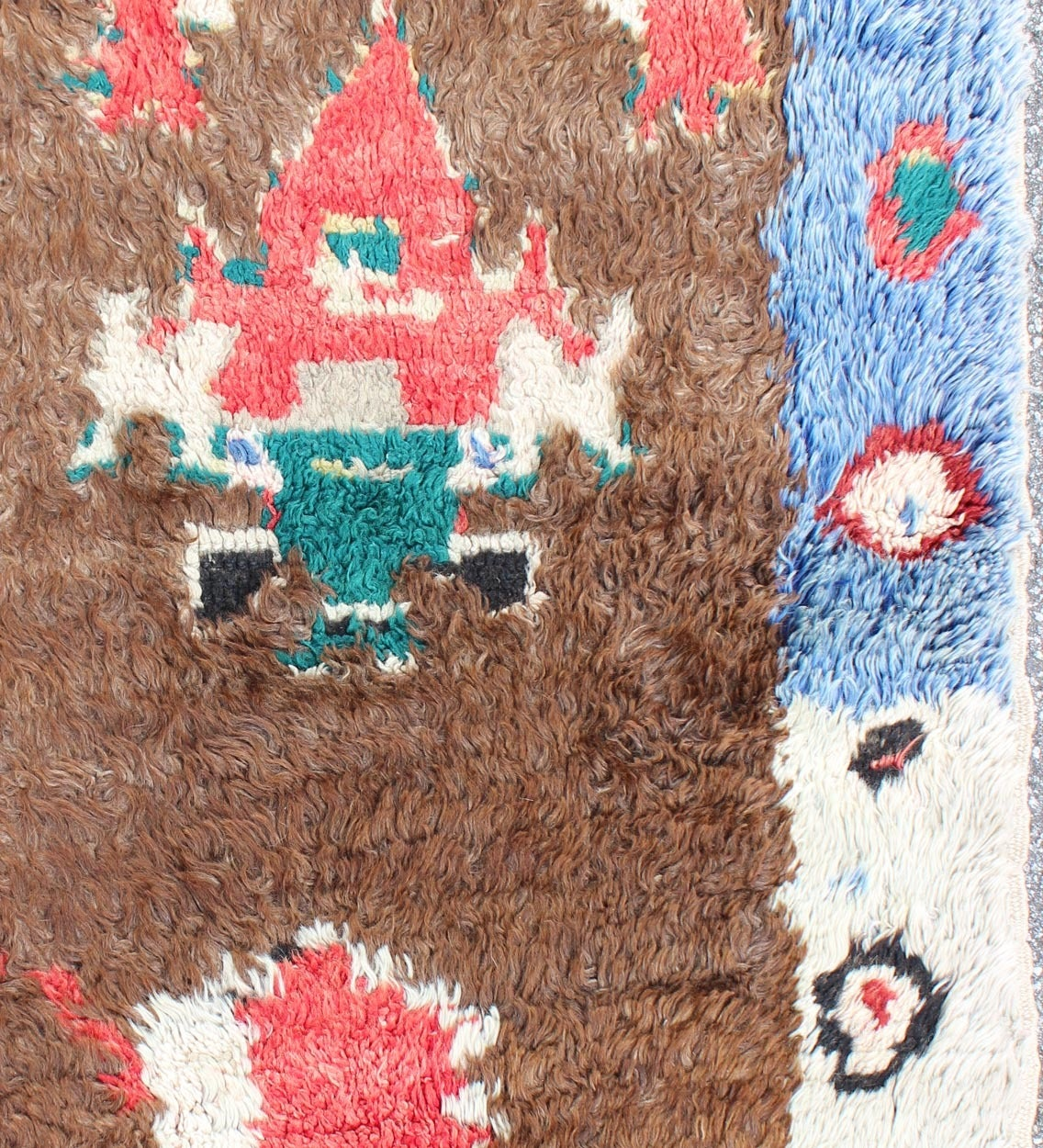 Colorful antique tulu rug for sale at 1stdibs for Colorful rugs for sale