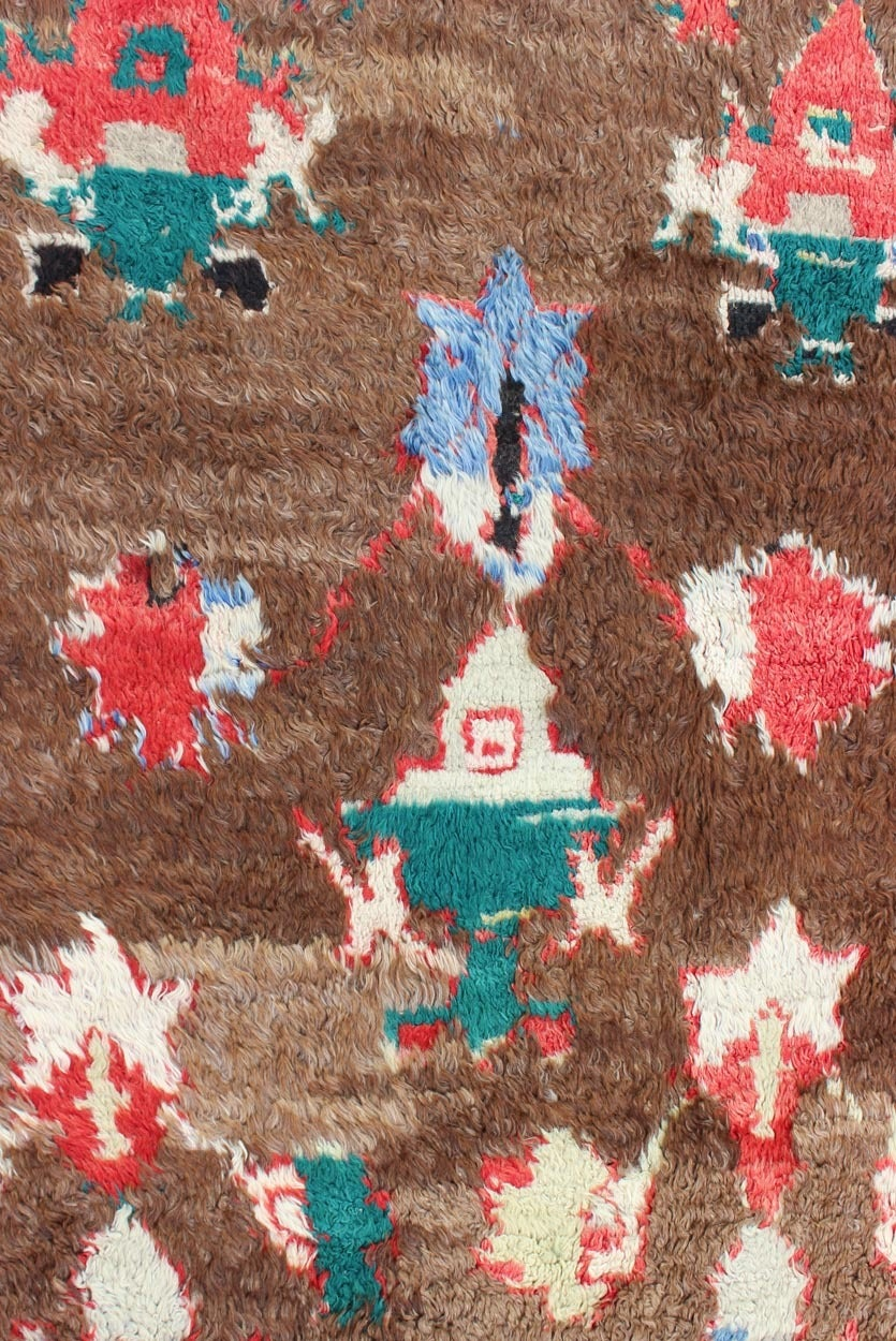 Colorful Antique Tulu Rug For Sale 1