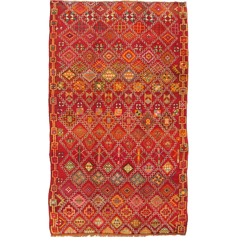 Vintage Moroccan Area Rug For Sale At 1stdibs: Colorful Moroccan Rug For Sale At 1stdibs