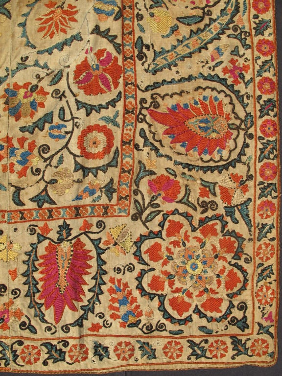 Antique Uzbekistan Suzani Embroidery For Sale At 1stdibs