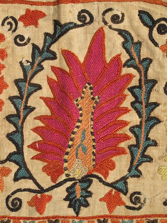 Antique Uzbekistan Suzani Embroidery For Sale 3