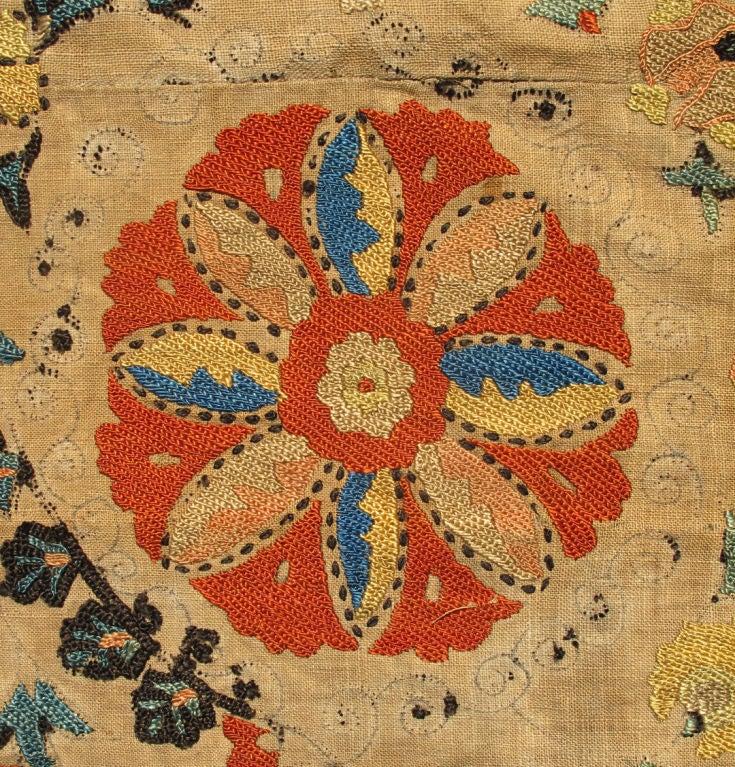 Antique Uzbekistan Suzani Embroidery For Sale 4