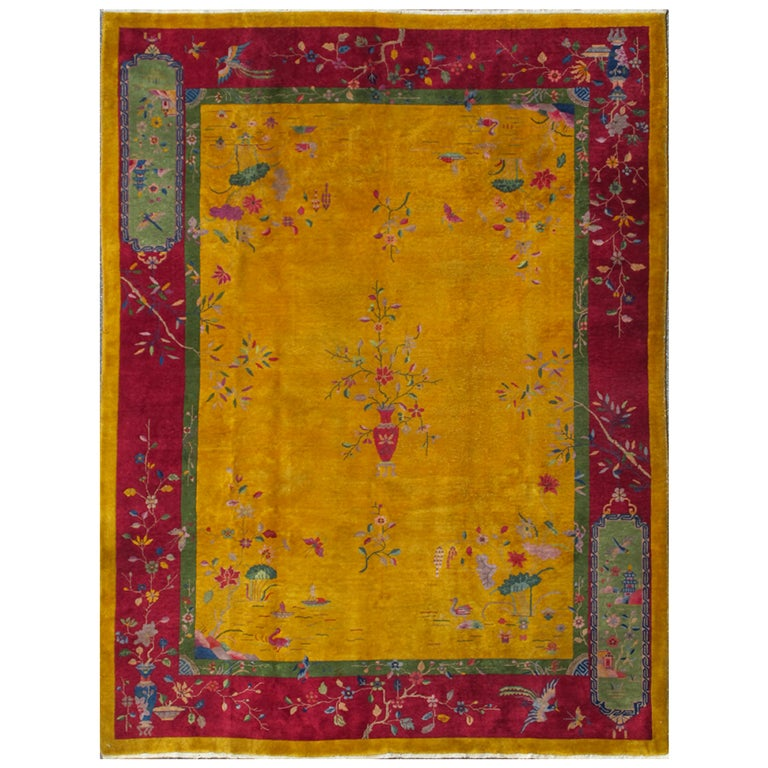 Beautiful Art Deco Chinese Rug At 1stdibs
