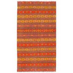 Vintage Kilim with Orange Stripe