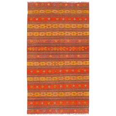 Vintage Kilim with Orange Stripe