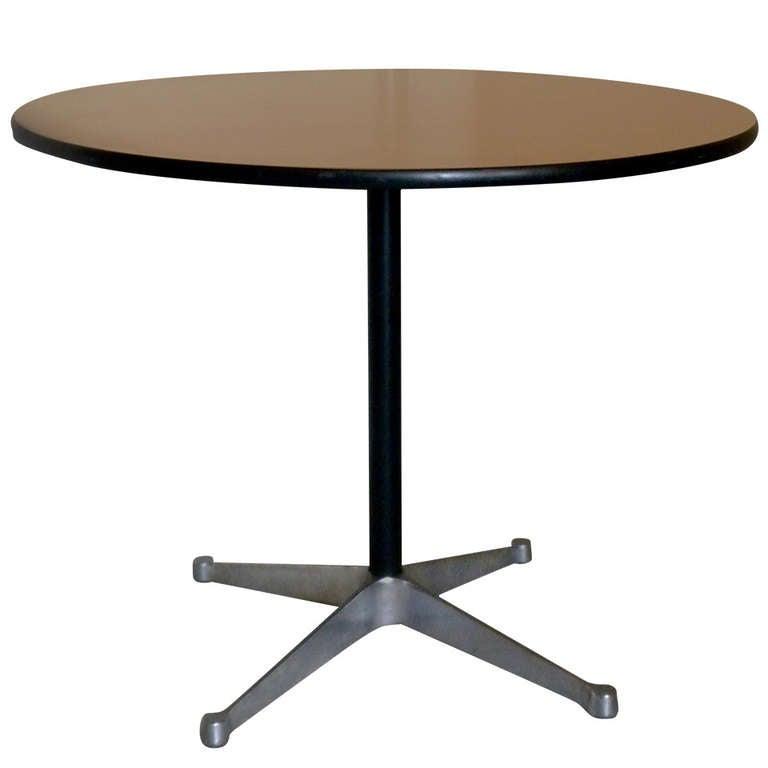 Original Eames Aluminum Group Pedestal Table For Herman