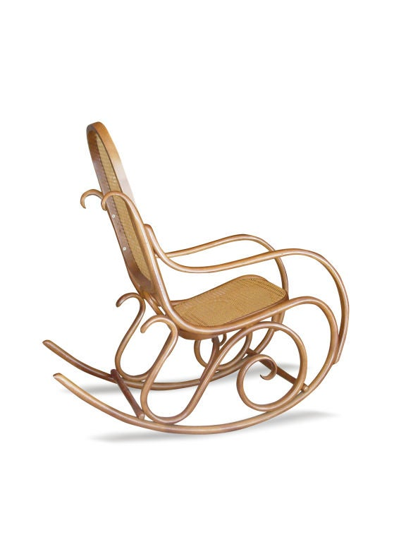 thonet bentwood rocking chair signed at 1stdibs
