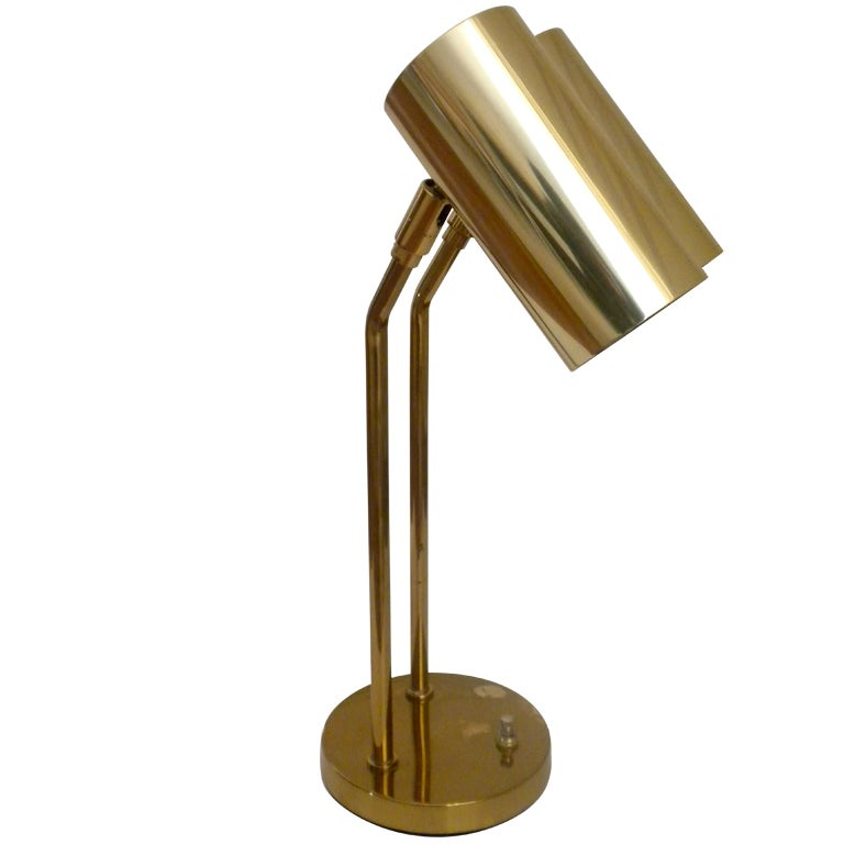 Koch And Lowy Double Arm Desk Lamp At 1stdibs