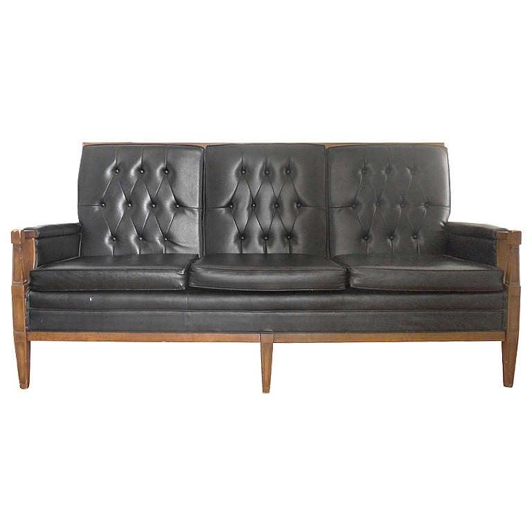 Black Tufted Modern Sofa At 1stdibs