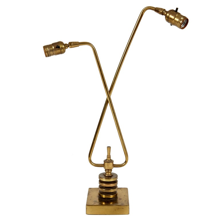 Double Arm Desk Lamp At 1stdibs