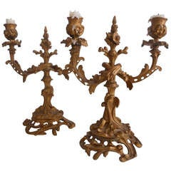 Pair of Louis XVI Style Candelabras
