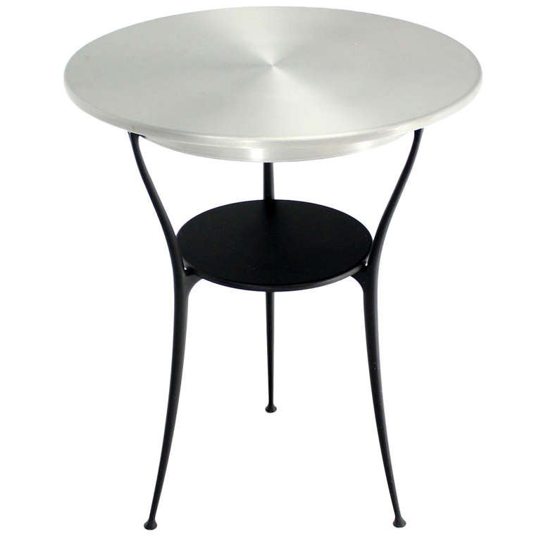 Mid-Century Italian Modern Tri-Leg Cafe Table by Arper