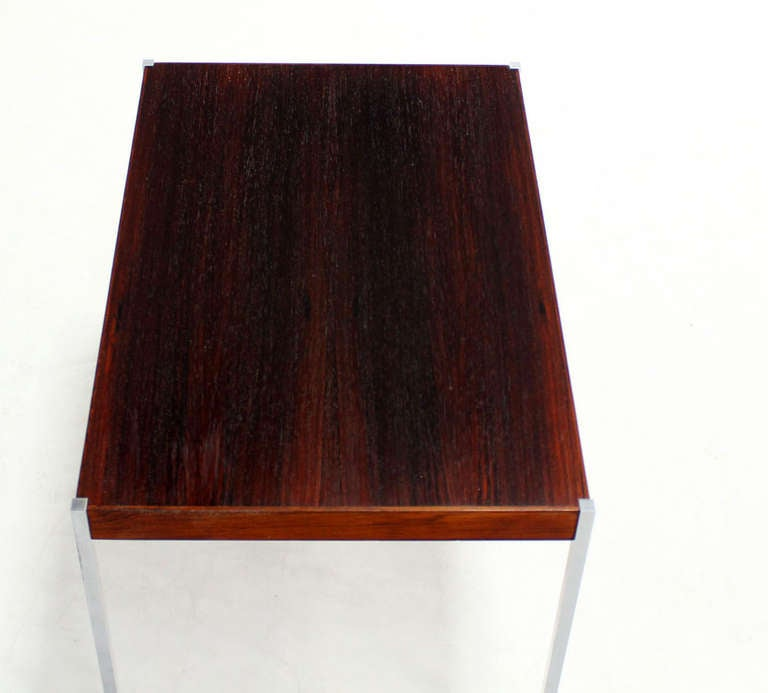 Danish Mid Century Modern Occasional Side Coffee Table Rosewood