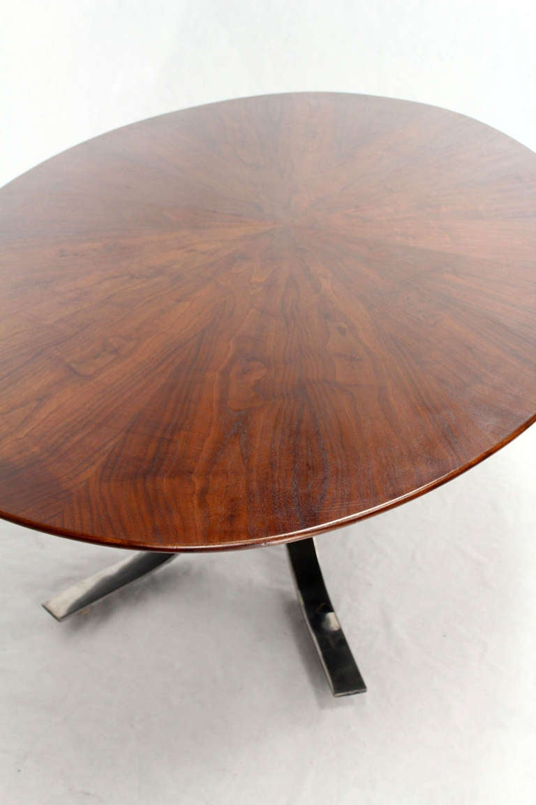 mid century modern oval walnut dining table by borsani at 1stdibs