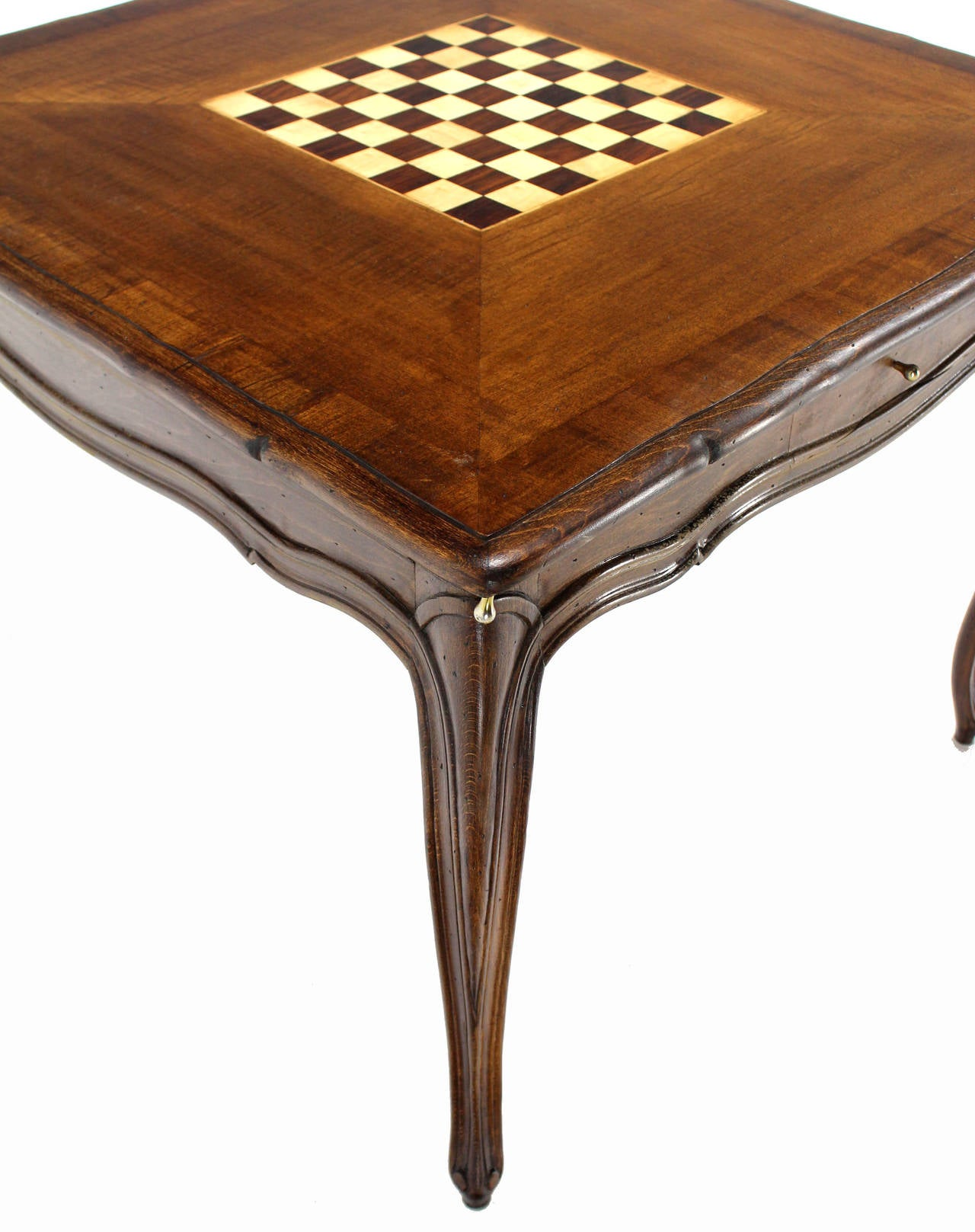 American Walnut Game Table With Built In Chess Board For