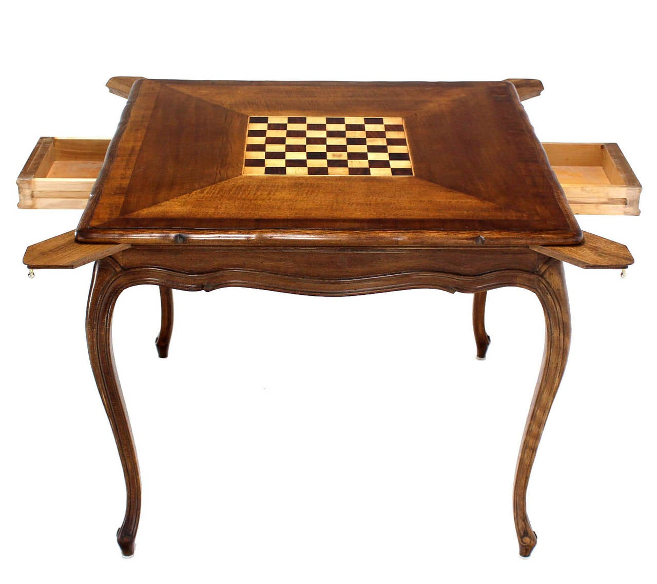 Walnut Game Table With Built In Chess Board At 1stdibs