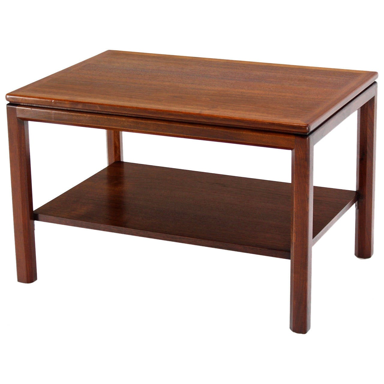 Danish modern oiled walnut end table at 1stdibs for Walnut side table