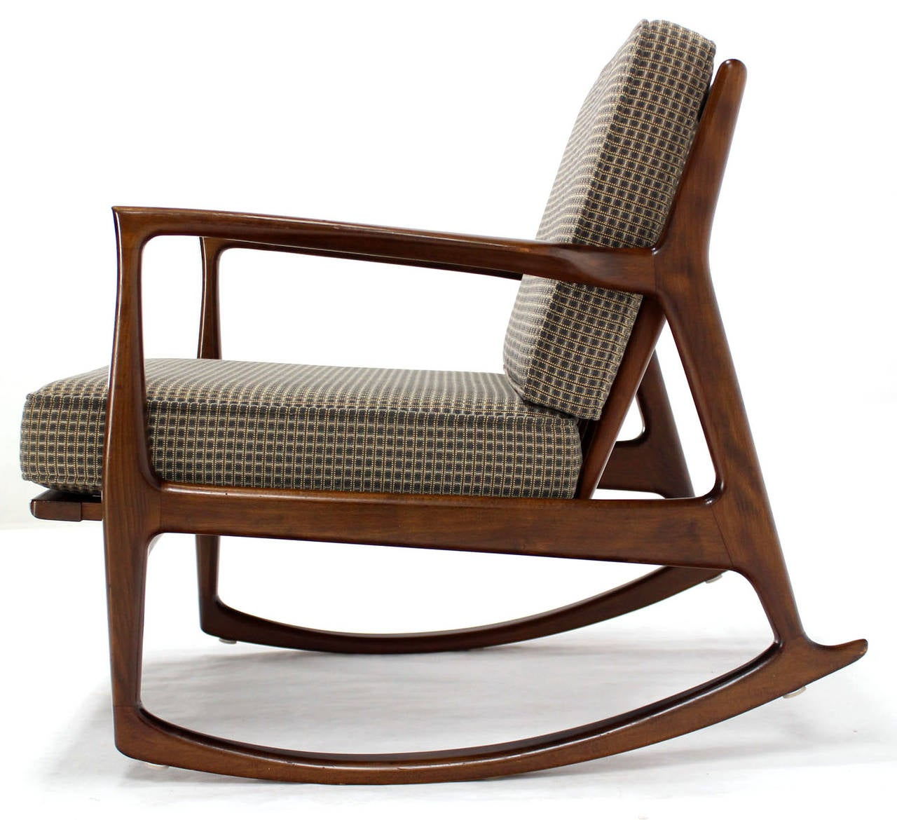 danish modern mid century rocking chair by selig at 1stdibs. Black Bedroom Furniture Sets. Home Design Ideas
