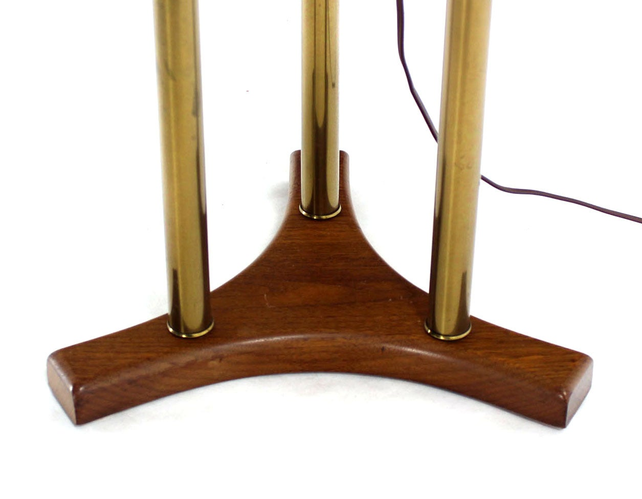 Mid century modern walnut brass and marble floor lamp for Side and lamp tables