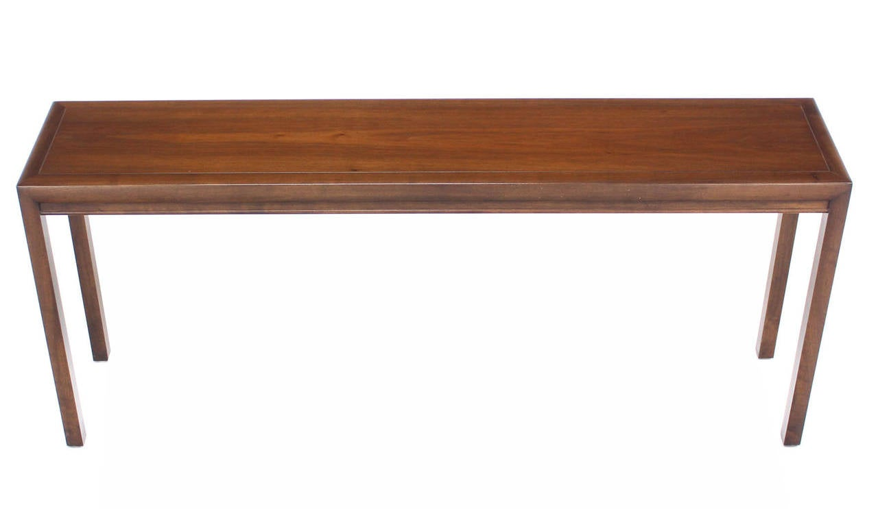 long walnut console or sofa table at 1stdibs. Black Bedroom Furniture Sets. Home Design Ideas