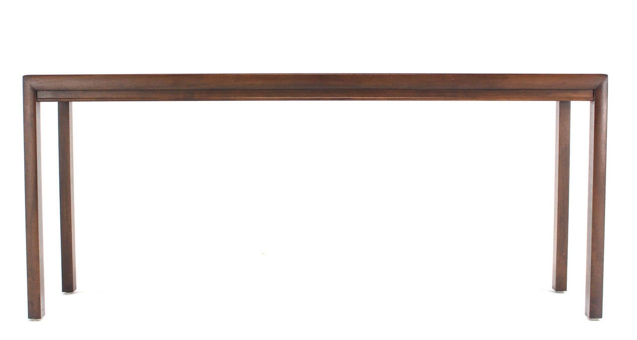 Long Console Table : Long Walnut Console or Sofa Table at 1stdibs