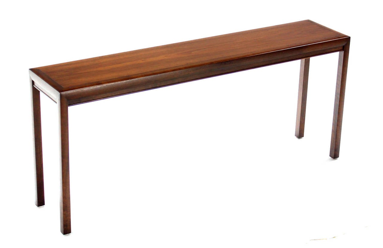 Long walnut console or sofa table at 1stdibs for Table console