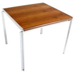 Mid-Century Modern Stow Davis Walnut and Chrome Coffee Table