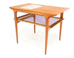 Danish Modern Mosiac Tile-Top Teak Side or End Table