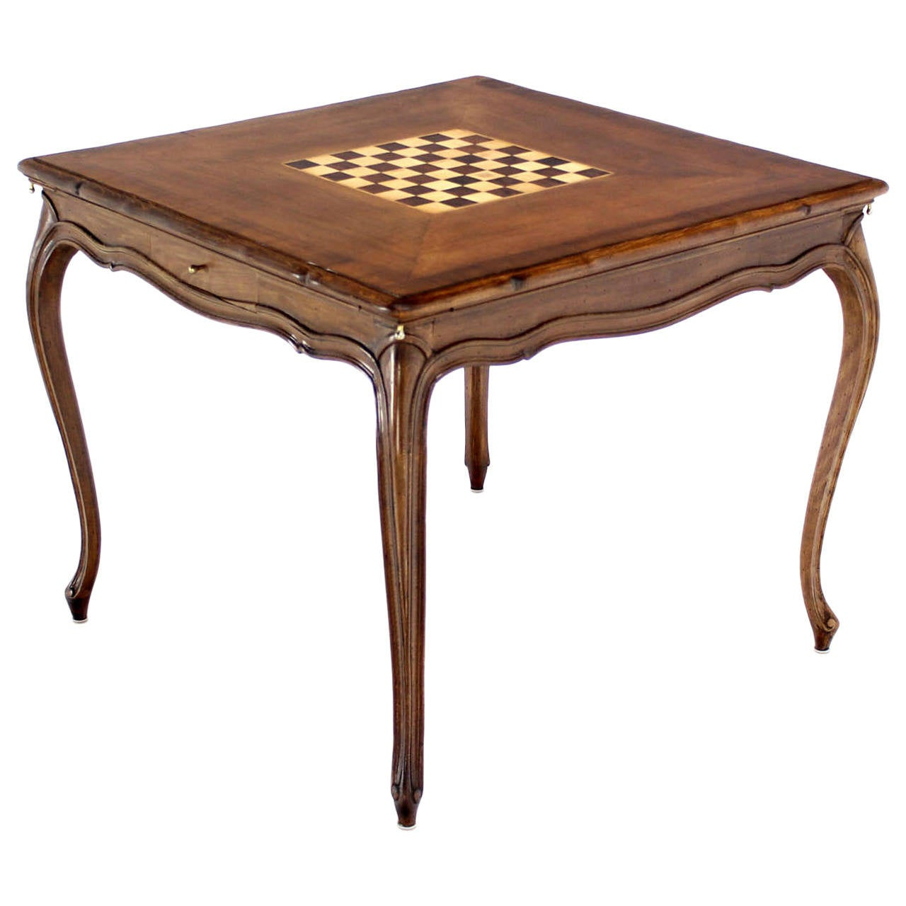 walnut table with built in chess board at 1stdibs