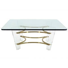 Apollo Square Chrome And Glass Side Table