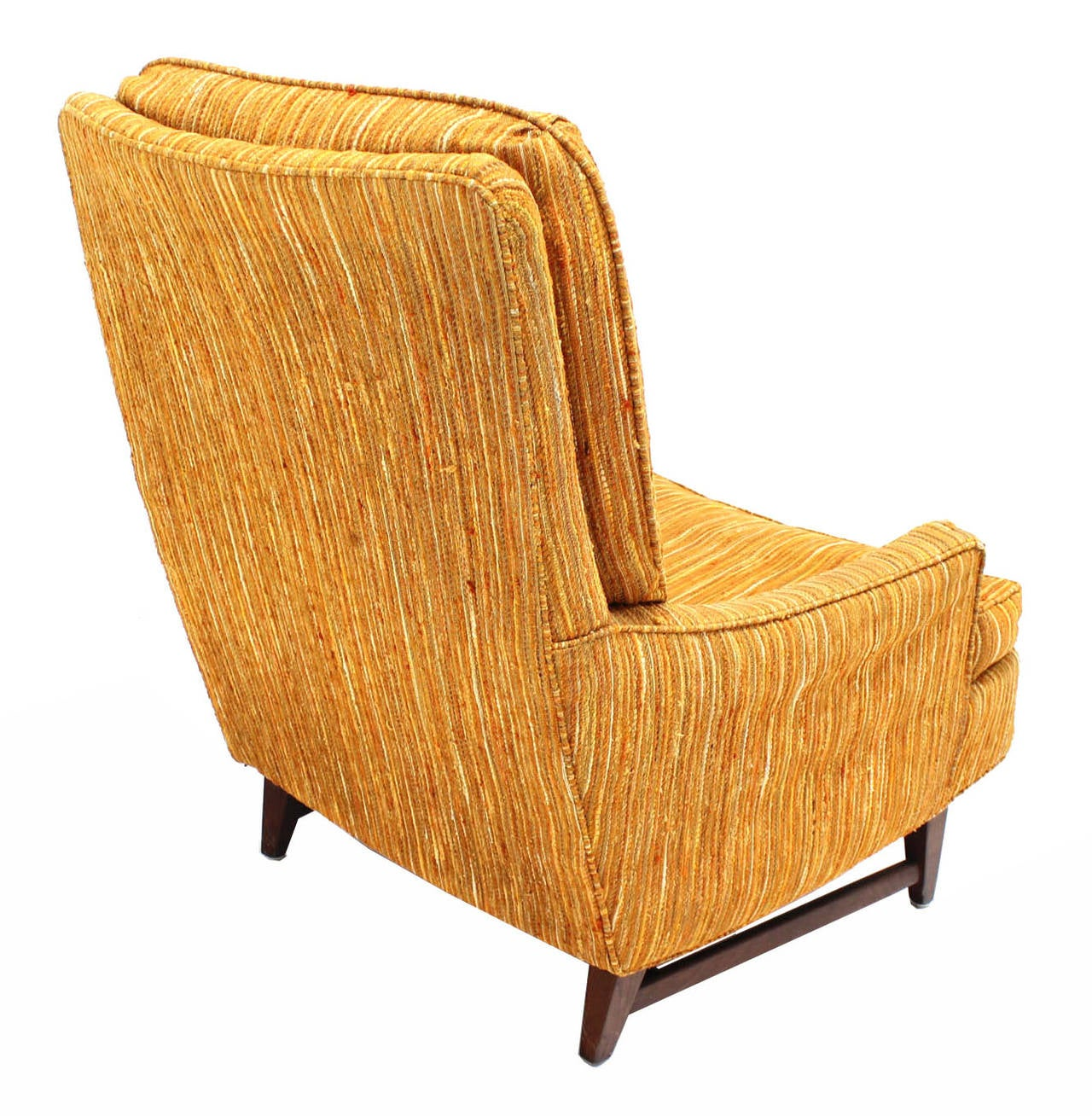 Selig Lounge Chair and Matching Ottoman with Upholstery at 1stdibs