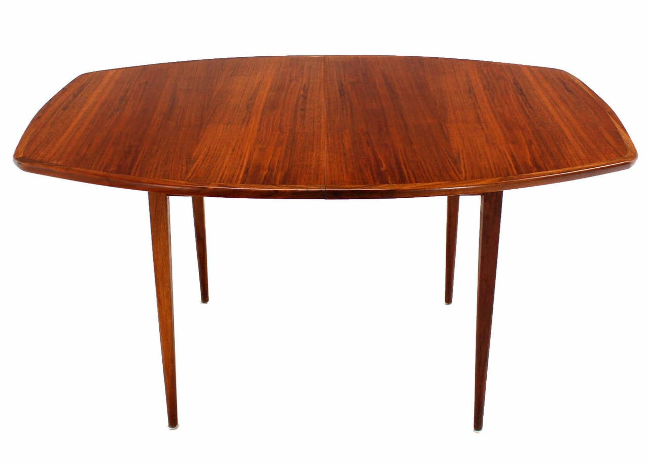 Mid-Century Modern Oiled Walnut Dining Table with Two Extension Board Leaves For Sale