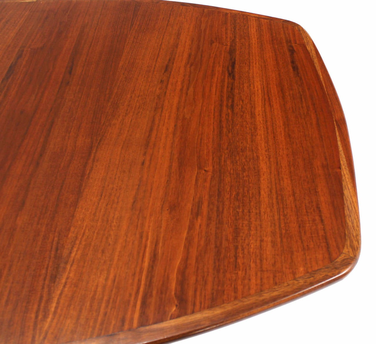 Lacquered Oiled Walnut Dining Table with Two Extension Board Leaves For Sale