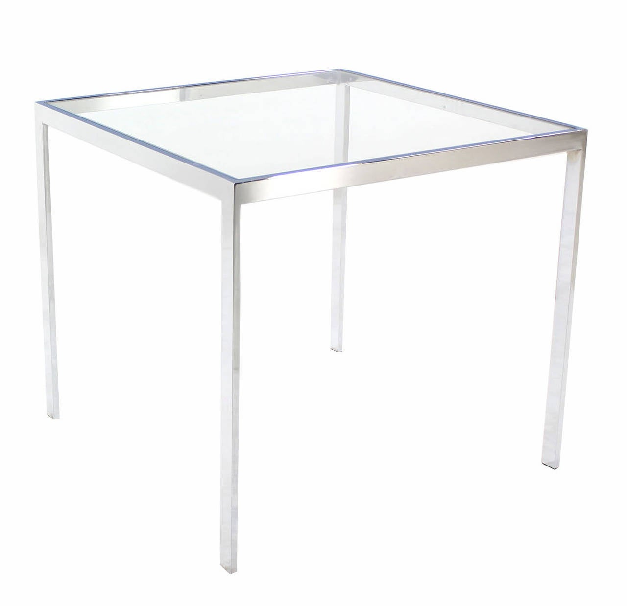 Square Cube Chrome And Glass Side Table For Sale At 1stdibs