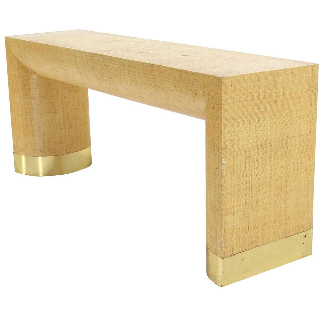 Wonderful Grass Cloth Console Or Sofa Table 1