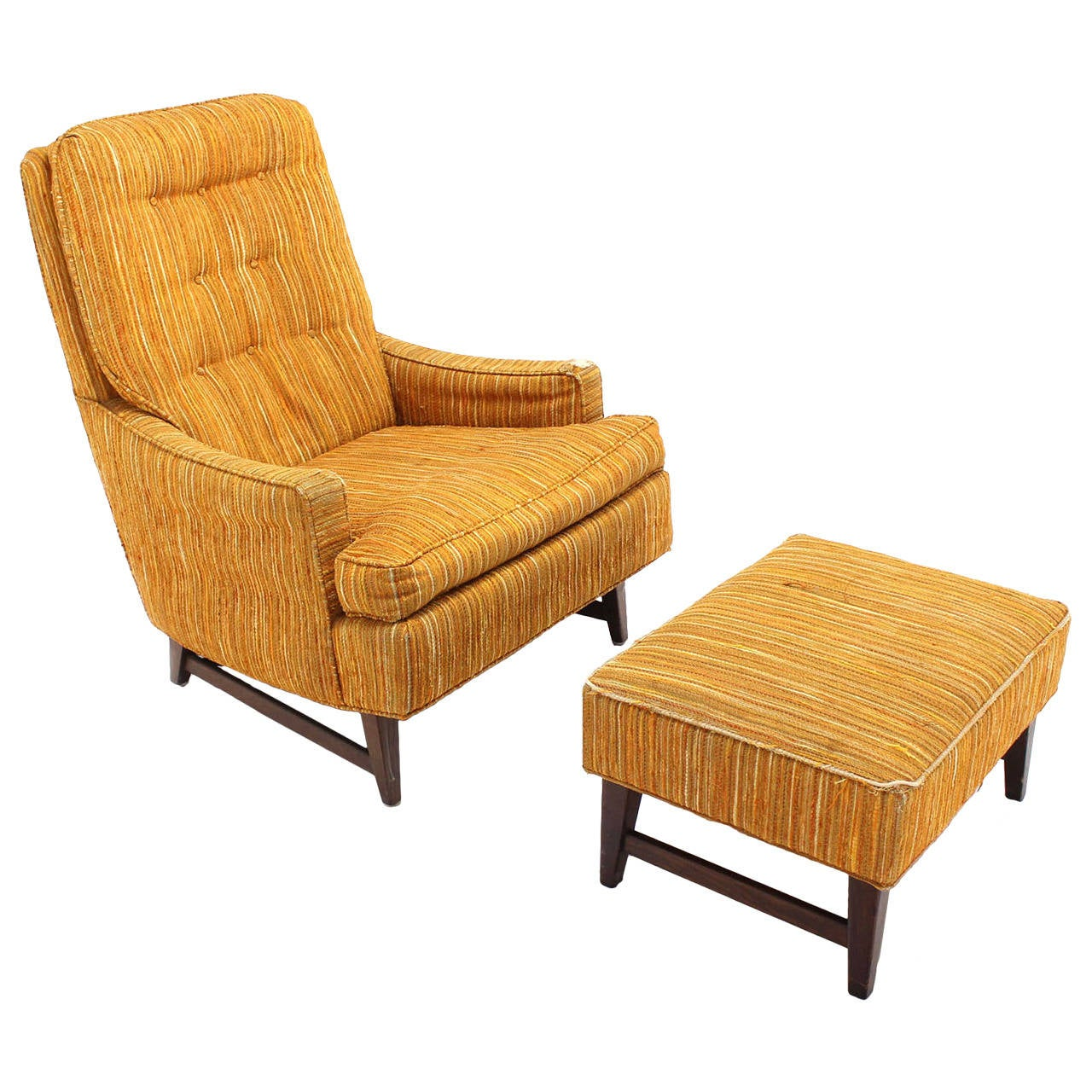 Selig Lounge Chair And Matching Ottoman With Upholstery At