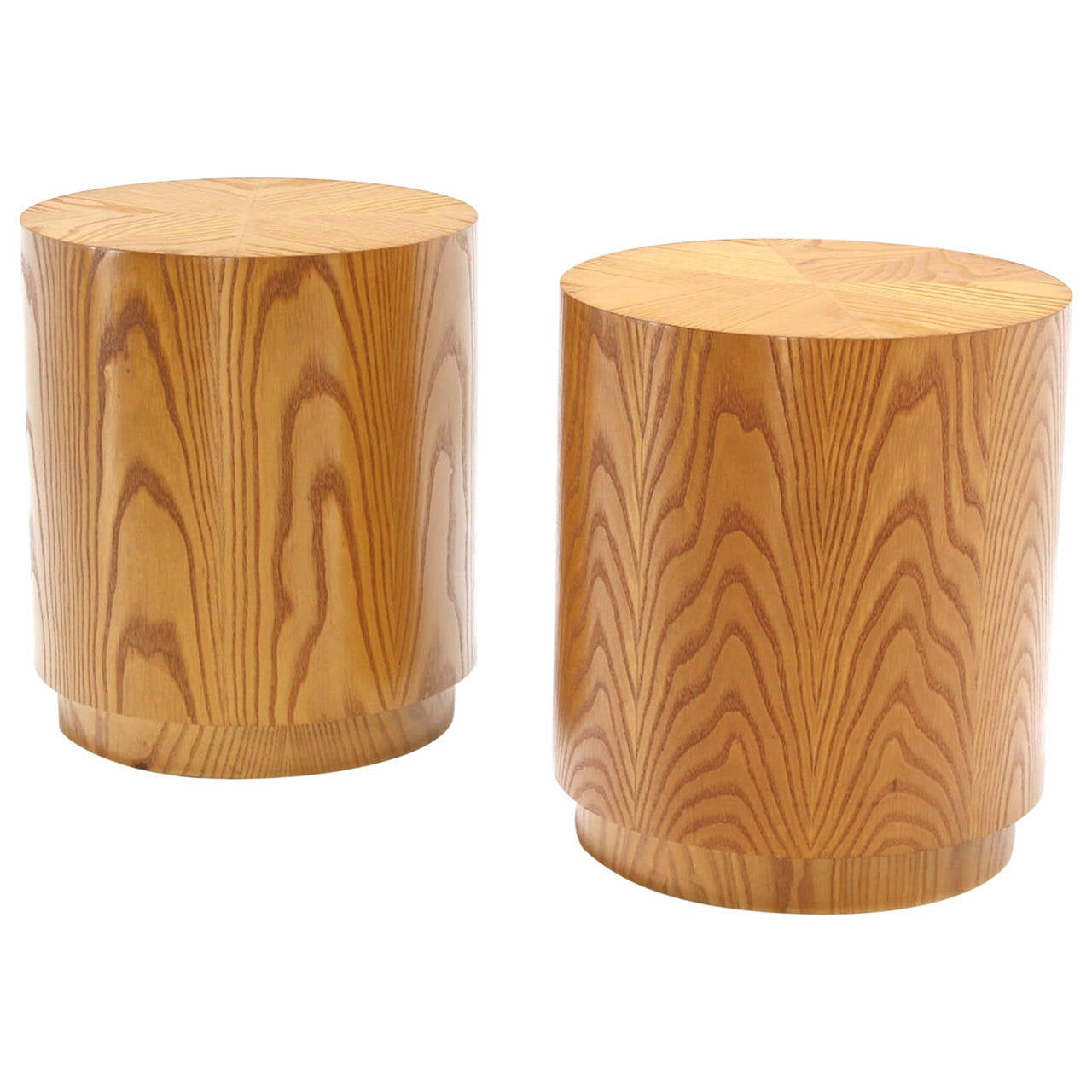 Pair of drum shape side tables at 1stdibs for Drum side table