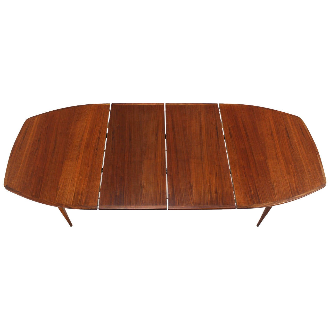 Oiled Walnut Dining Table with Two Extension Board Leaves For Sale