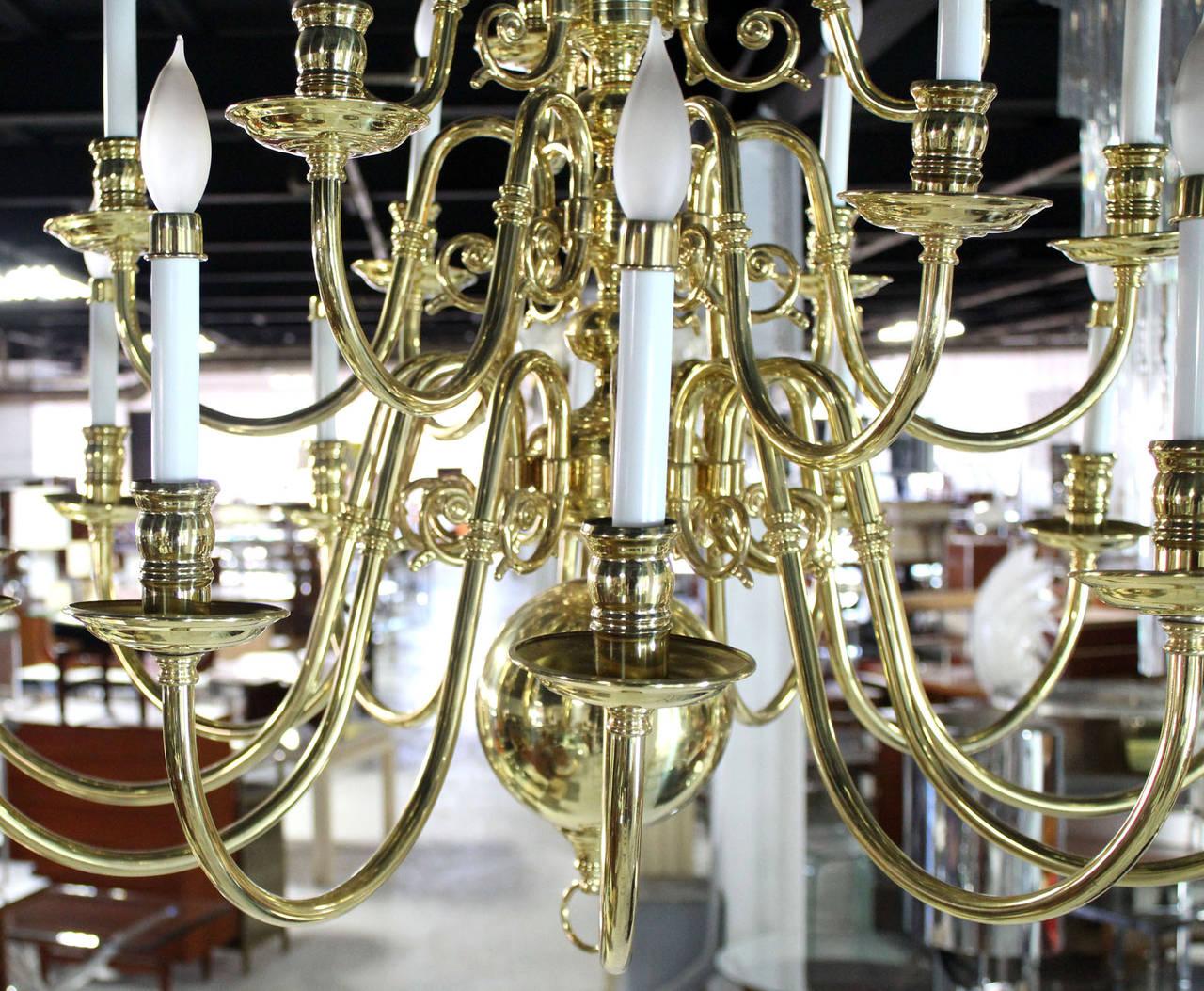 Vintage Brass Candelabra Chandelier image 9