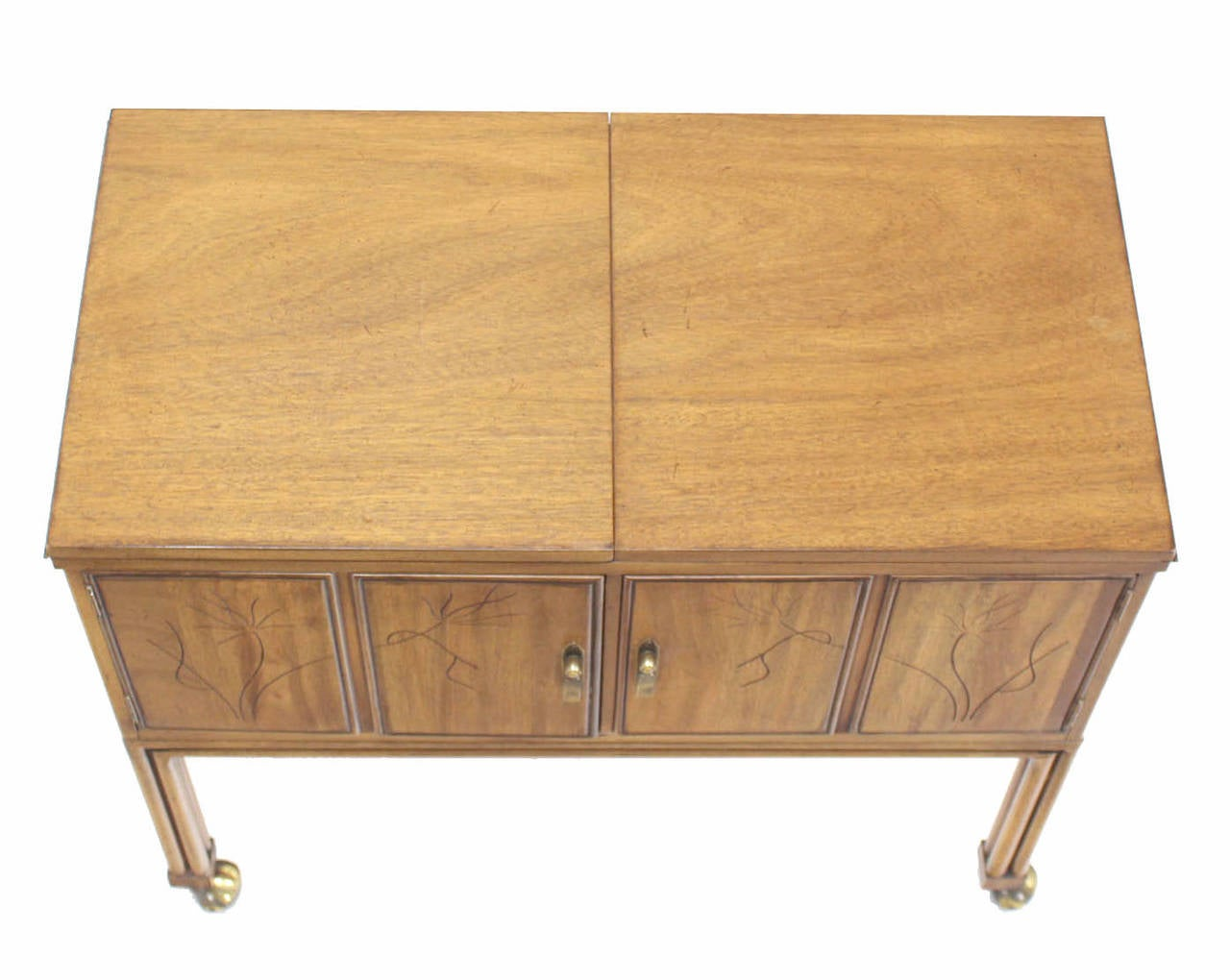 Flip Top Bar Cart Server Cabinet  3