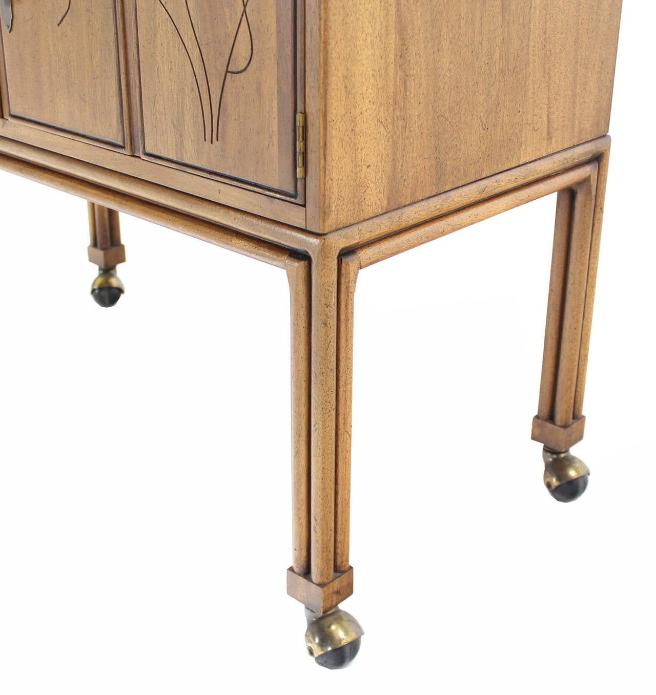 Flip Top Bar Cart Server Cabinet  5