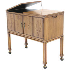 Flip Top Bar Cart Server Cabinet