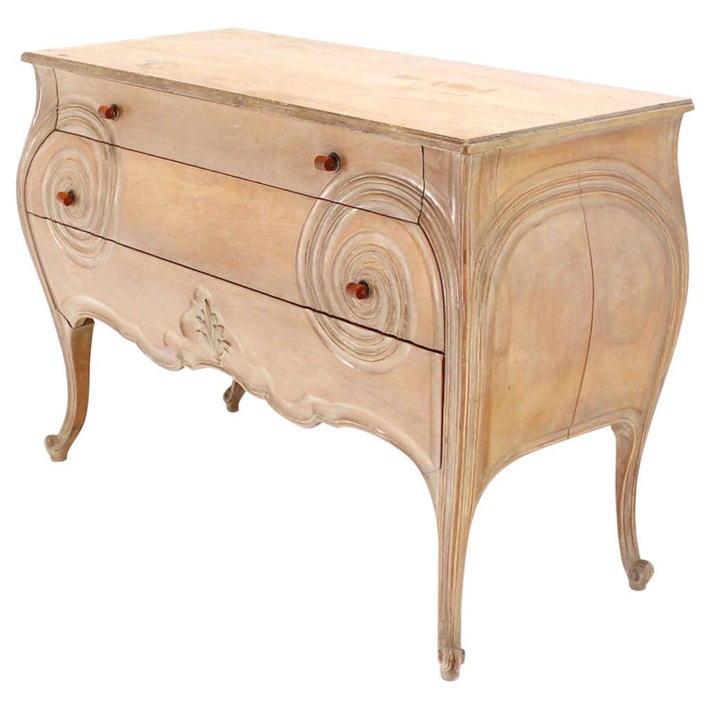 Commode furniture - Carved 1930s Bombay Commode Dresser Or Cabinet With Bakelite Pulls On High Legs 1
