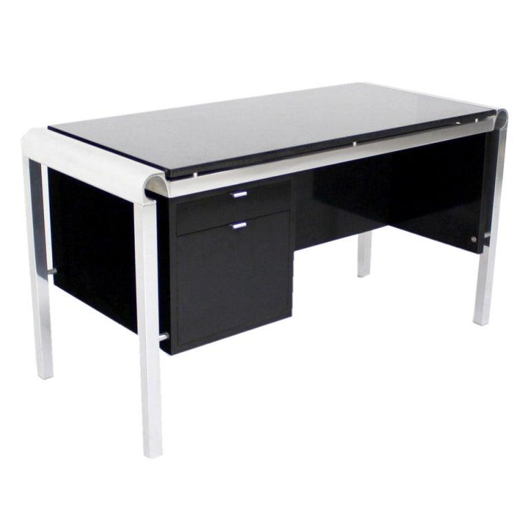 Mid Century Modern Heavy Granite Top Desk For