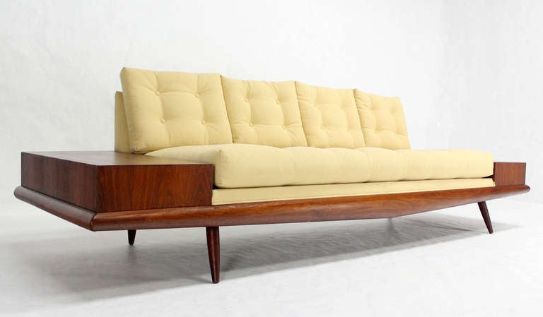 Adrian Pearsall Mid-Century Modern Sofa with Walnut End Table, New ...