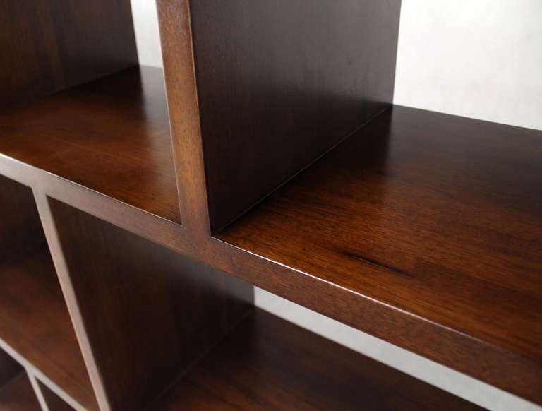 Pair Of Large Open Back Bookcases Shelves Wall Units Room