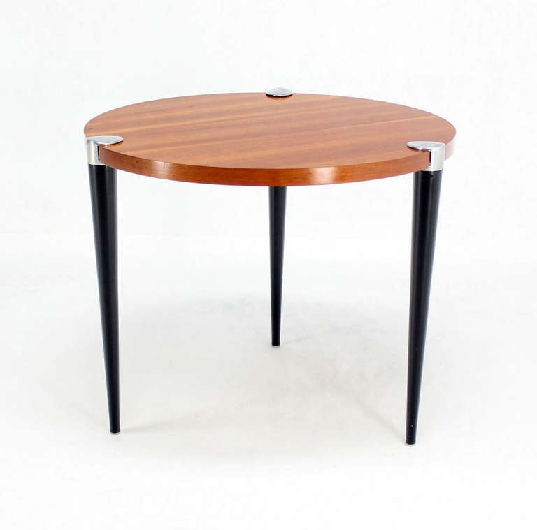 gueridon modern round breakfast cafe dining table mid century image 7