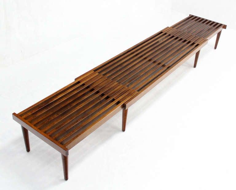Attractive Mid Century Modern Slat Bench Part - 3: Expandable Danish Mid-Century Modern Slat Bench 3